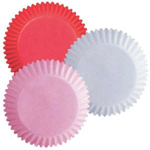 Assorted Red, White and Pink Baking Cups